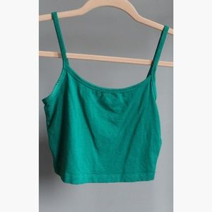 Blue / green crop top